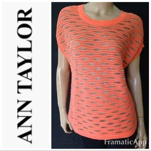 💫🅿️ Ann Taylor coral open weave sweater r255